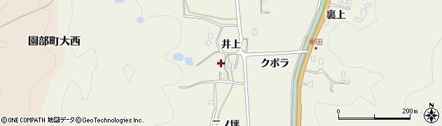 京都府南丹市園部町半田(井上)周辺の地図