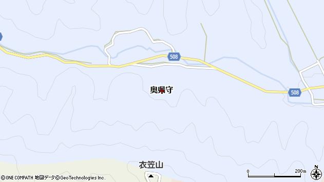 〒669-2401 兵庫県丹波篠山市奥県守の地図