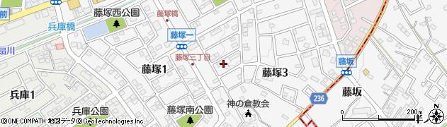 愛知県名古屋市緑区藤塚周辺の地図