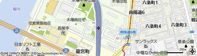 南木場荘周辺の地図