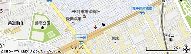 ストリート周辺の地図