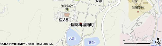 京都府南丹市園部町城南町(加茂)周辺の地図