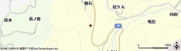 愛知県豊田市国谷町(動石)周辺の地図