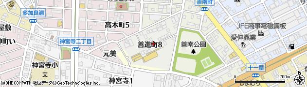 愛知県名古屋市港区善進町周辺の地図
