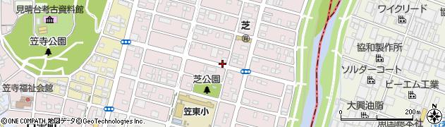 愛知県名古屋市南区芝町周辺の地図