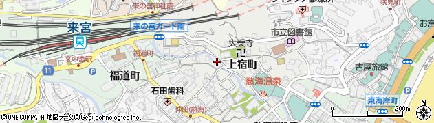 静岡県熱海市上宿町周辺の地図
