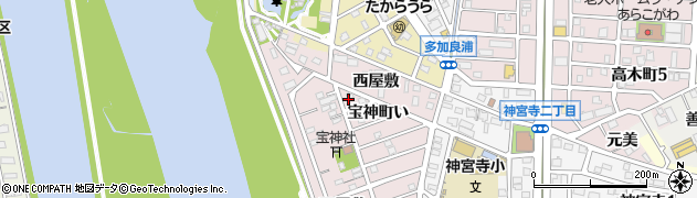 愛知県名古屋市港区宝神町(い)周辺の地図