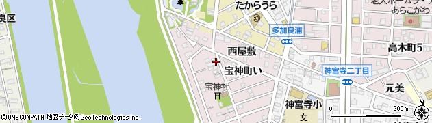 愛知県名古屋市港区宝神町(敷地)周辺の地図