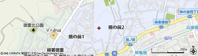 愛知県名古屋市緑区熊の前周辺の地図