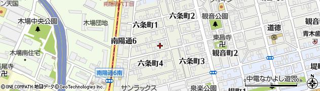 愛知県名古屋市南区六条町周辺の地図