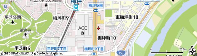 回転寿司・おしどり寿司梅坪店周辺の地図