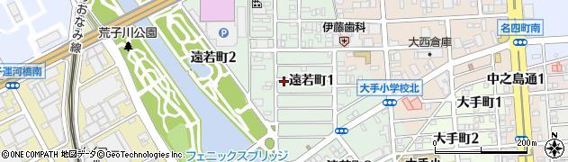 愛知県名古屋市港区遠若町周辺の地図