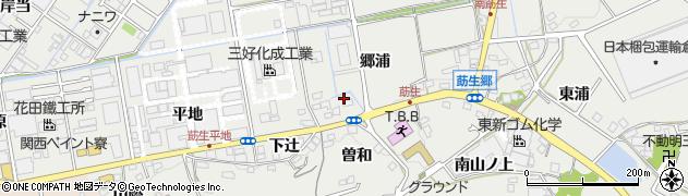 愛知県みよし市莇生町(郷浦)周辺の地図