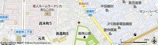 愛知県名古屋市港区善南町周辺の地図