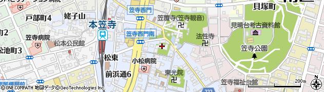 泉増院周辺の地図