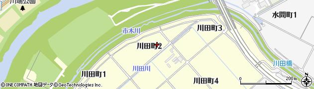 愛知県豊田市川田町周辺の地図