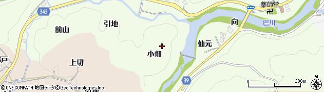 愛知県豊田市則定町(小畑)周辺の地図