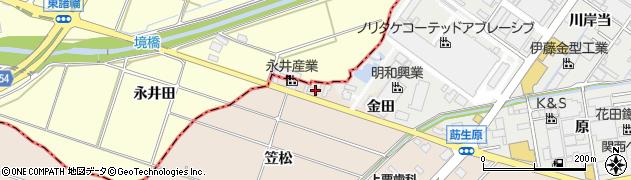 愛知県みよし市三好町(笠松)周辺の地図