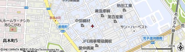 愛知県名古屋市港区善進本町周辺の地図