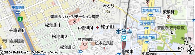 愛知県名古屋市南区笠寺町(姥子山)周辺の地図