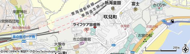 静岡県熱海市咲見町周辺の地図