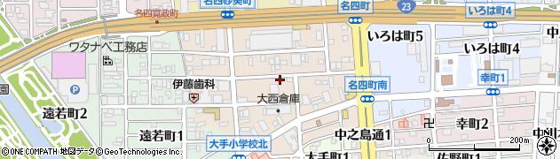愛知県名古屋市港区名四町周辺の地図