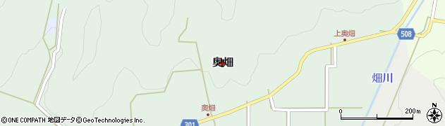 兵庫県丹波篠山市奥畑周辺の地図