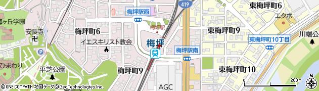 愛知県豊田市周辺の地図