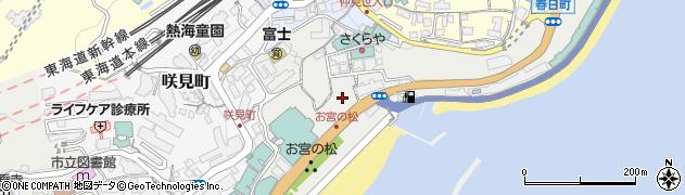 静岡県熱海市東海岸町周辺の地図