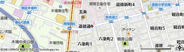 愛知県名古屋市南区道徳通周辺の地図