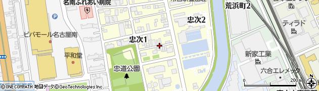 愛知県名古屋市南区忠次周辺の地図