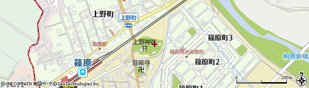 上野神社周辺の地図