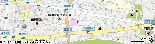 静岡県沼津市三枚橋町周辺の地図