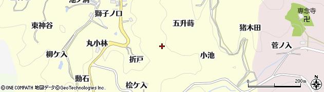 愛知県豊田市国谷町(折戸)周辺の地図