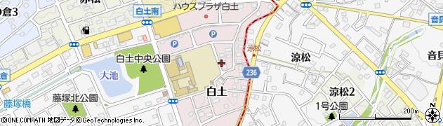 愛知県名古屋市緑区白土周辺の地図