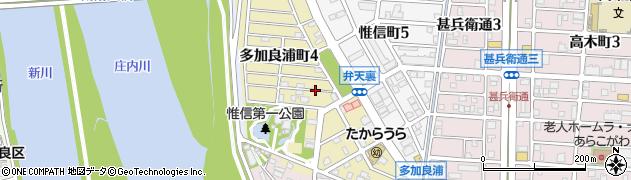 愛知県名古屋市港区多加良浦町周辺の地図