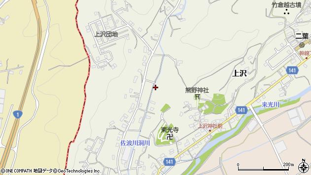 〒419-0122 静岡県田方郡函南町上沢の地図