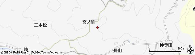愛知県豊田市下国谷町(宮ノ前)周辺の地図