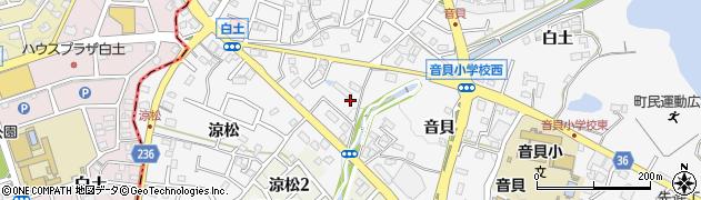 愛知県愛知郡東郷町春木音貝周辺の地図