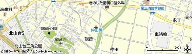 愛知県愛知郡東郷町諸輪観音周辺の地図