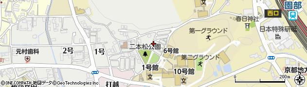 京都府南丹市園部町栄町周辺の地図