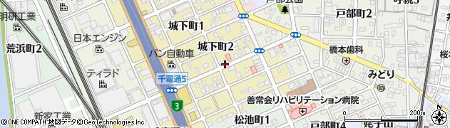 愛知県名古屋市南区城下町周辺の地図