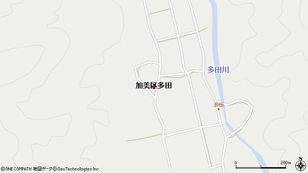 〒679-1203 兵庫県多可郡多可町加美区多田の地図