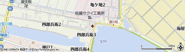 愛知県弥富市四郎兵衛周辺の地図