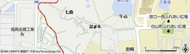 愛知県豊田市太平町(盆ノ木)周辺の地図