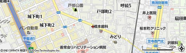 愛知県名古屋市南区戸部町周辺の地図