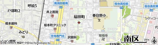 愛知県名古屋市南区扇田町周辺の地図