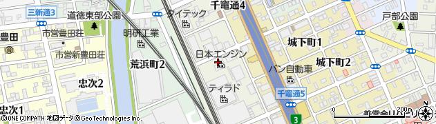 愛知県名古屋市南区塩屋町周辺の地図