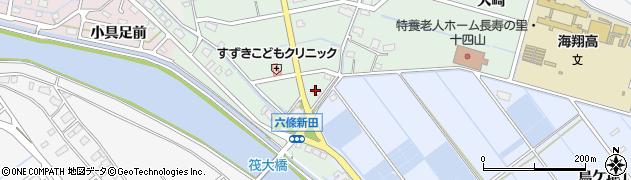 愛知県弥富市六條町中切周辺の地図