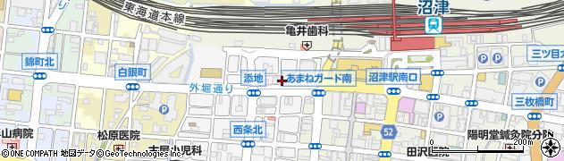 静岡県沼津市添地町周辺の地図